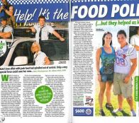 The Food Patrol  feature in 'Thats Life' magazine cover and two page spread.